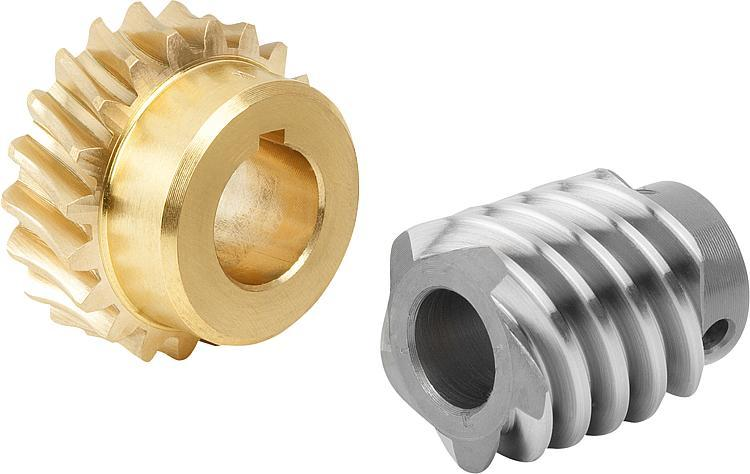 Worm gears, right-hand centre distance 22.62 mm - Worm screws and worm wheels