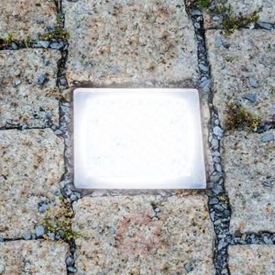 Walk-on LED recessed floor light, paving stone - Recessed Floor Lights