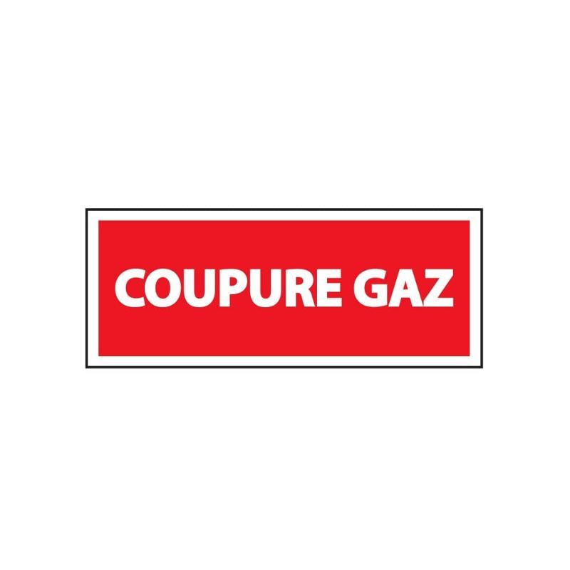 Panneau coupure gaz 200 x 80 mm - Panneaux de sécurité