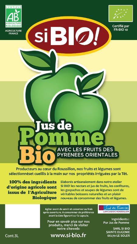 JUS DE POMME - JUS DE POMME BIB 3L