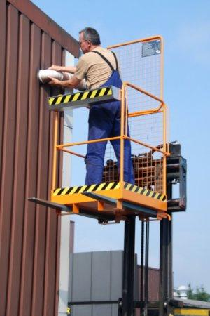 Safety cage type SIKO-M - Access safety platform, safety for repairs and maintenance