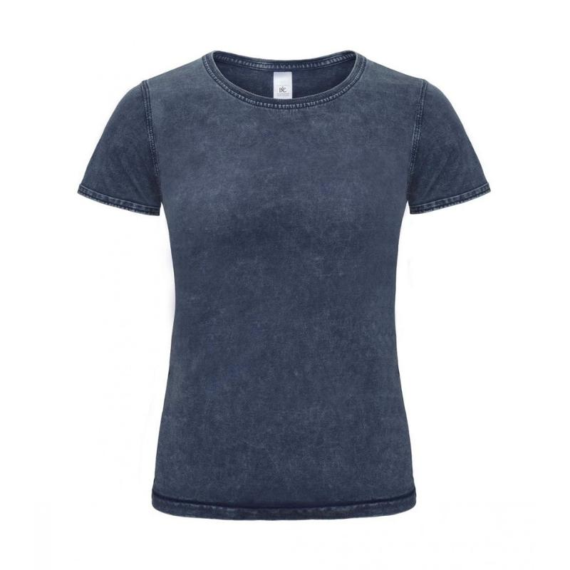 Tee-shirt femme Denim Effect - Manches courtes