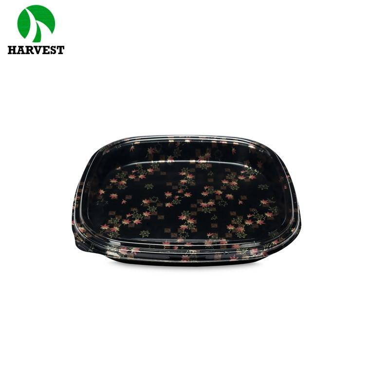 Square Hp Sushi Custom Blister Disposable Plastic Party Dishes And Trays - Party Trays