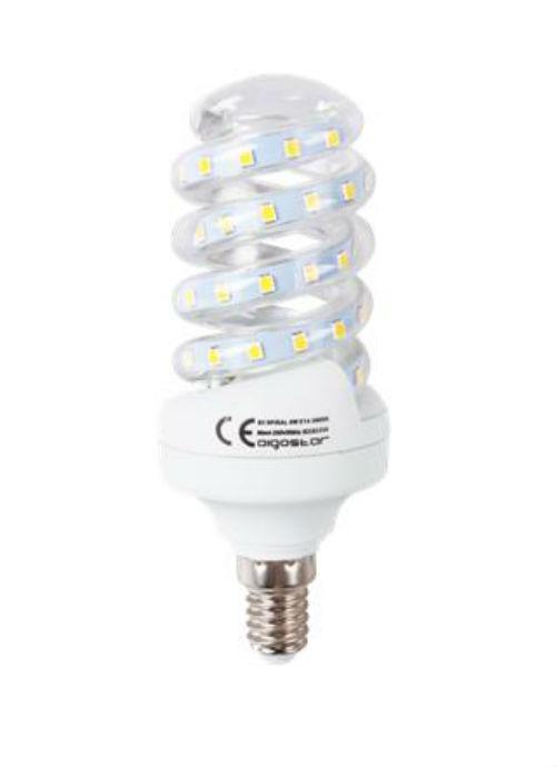 Lampadine LED a spirale E14 - 9W trasparente 3000/6400K 750lm