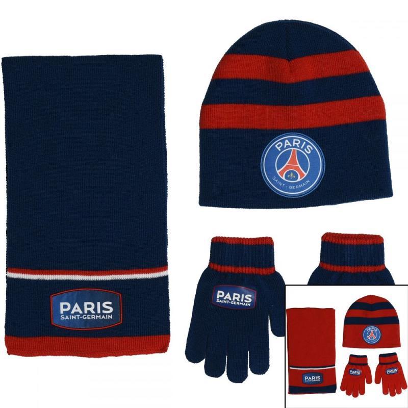 6x Echarpes et bonnets et gants Paris Saint Germain - Bonnet Gant Echarpe