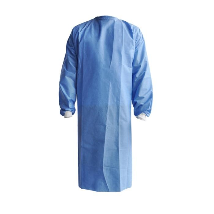 Disposable isolation gown surgical gown with AAMI Level 1 2  - SMS materials ,blue colour ,40 gsm