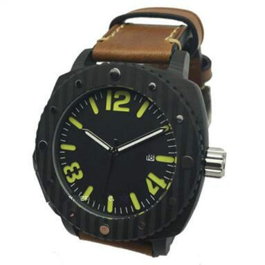 OEM Europe real Laminated carbon firber merchanical watch