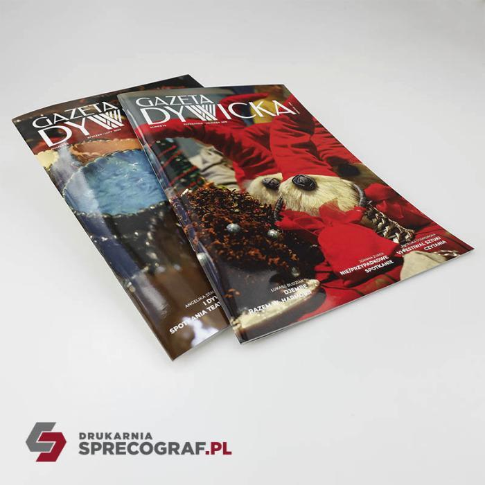 Tidningar, reklam tidningar, broschyrer - Bindning av sadelsöm, A4, A5 eller icke-standardformat