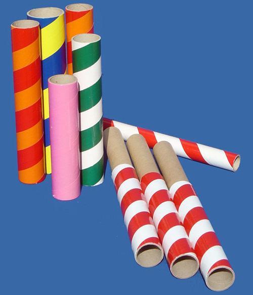 tubes en carton décoratif