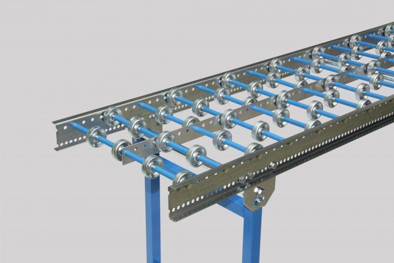 Light mini roller conveyors with galvan. steel wheel Ø 48 mm