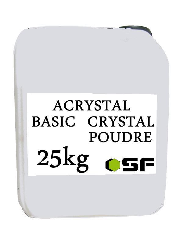 Resines Acrystal poudres et liquides - ACRYSTAL BASIC CRYSTAL EN 25KG