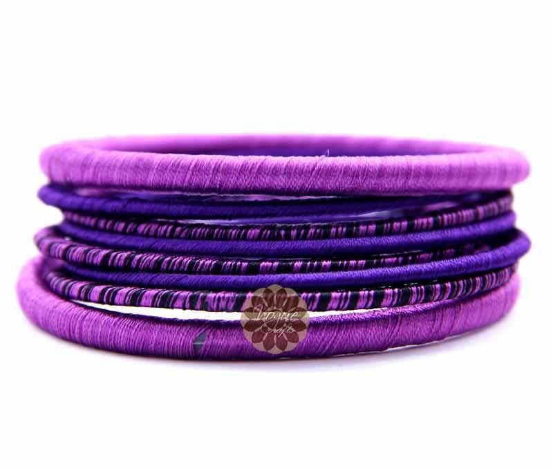 Shades of Purple Bangle Stack -
