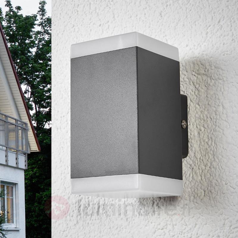 Applique d'extérieur LED anguleuse Hedda - Appliques d'extérieur LED