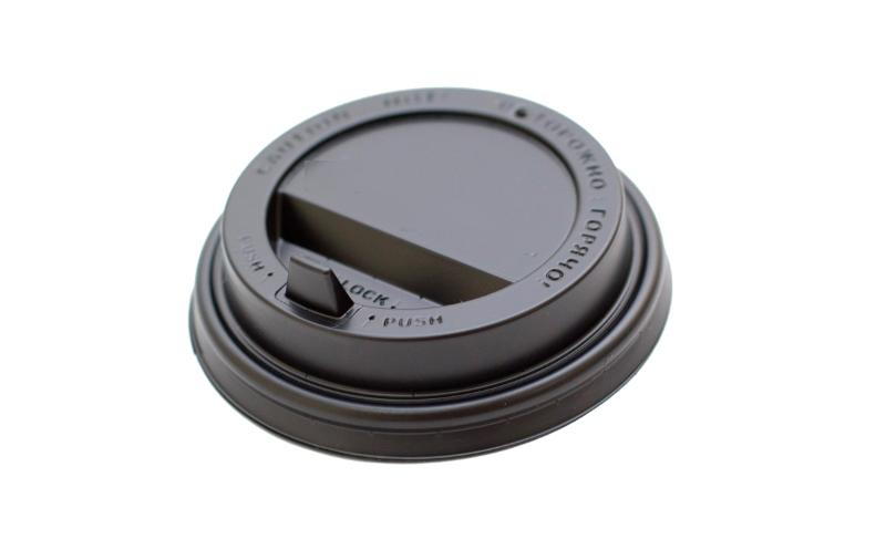 Reclosable Cup Lid with Hinged Tab  - Plastic lid with Hinged Tab for disposable cups