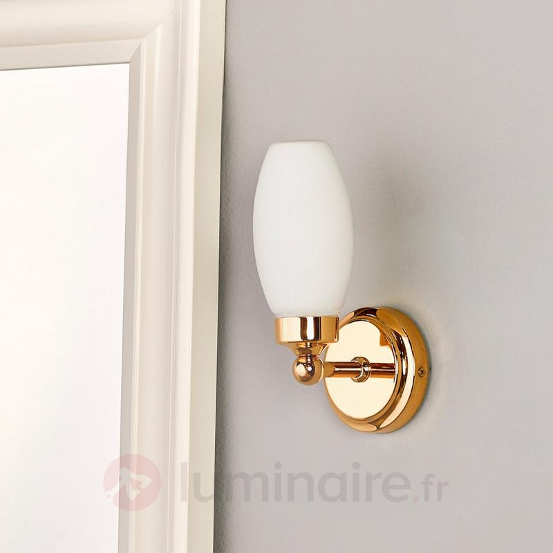 Applique de salle de bains Maylie, laiton poli - Salle de bains et miroirs