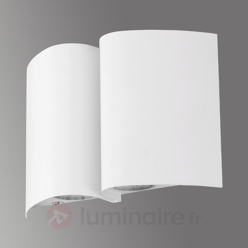 Applique extérieure LED stylée Suesa blanc - Appliques d'extérieur LED