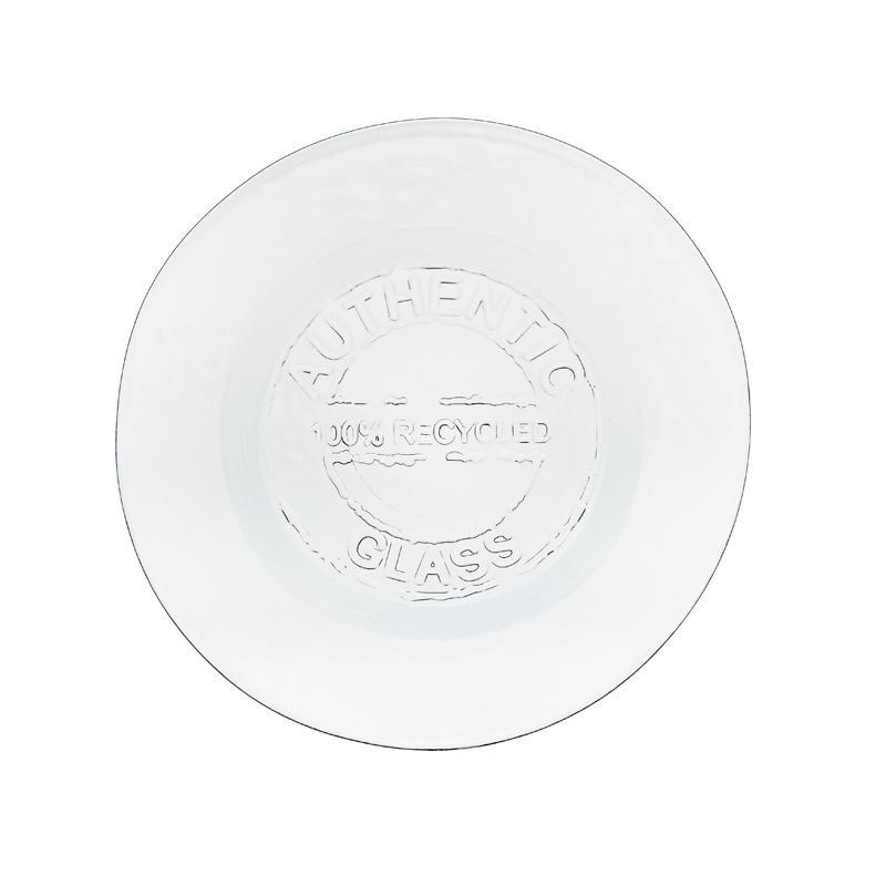 Lot de 2 Assiettes 28 cm en verre recyclé