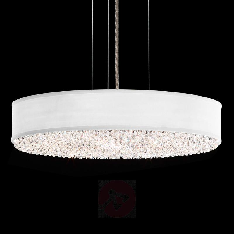 Eclyptix - oval hanging light with crystals - design-hotel-lighting