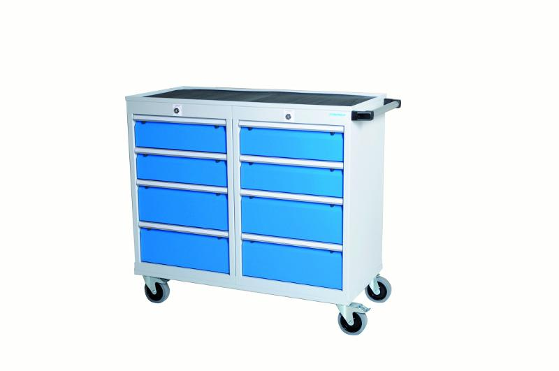 Workshop trolleys T500-4 with 8 drawers, different... - 04.11.08A