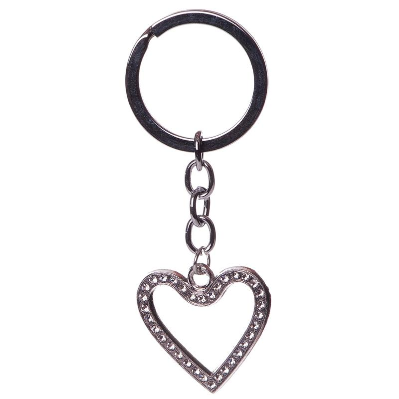 Heart silver keychain - Wedding Love celebration gift items