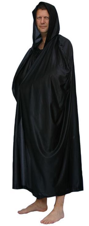 Cape noire à capuche - null