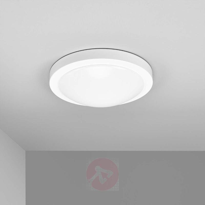 Aras IP44 ceiling light in white, with LEDs - Ceiling Lights