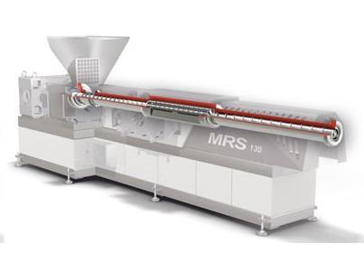 MRS extruder - Single screw extruder with multiple screw section for optimum devolatilisation.