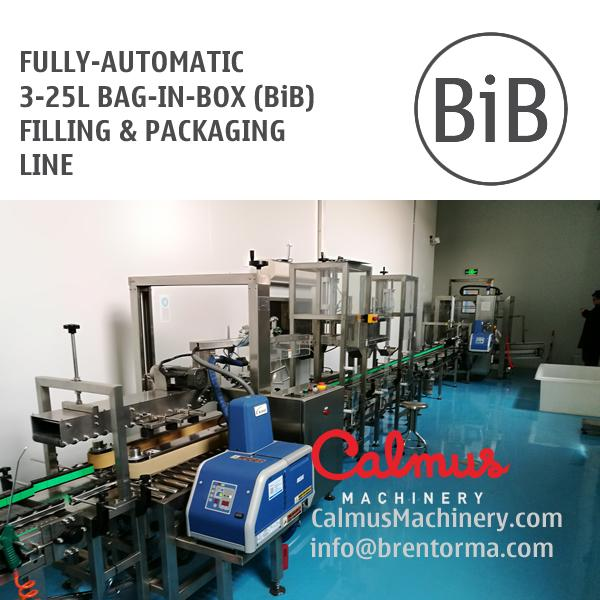 Fully-automatic Bag-in-Box (BiB) Filling and Packaging Line - Fill-and-Pack line of Bag Filling, Carton Erecting, Bag Inserting & Box Sealing
