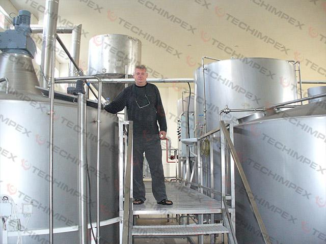 Industrial breweries 100hl - 500hl / day - Industrial beer brewing equipment productivity 10000 - 50000 liters/day