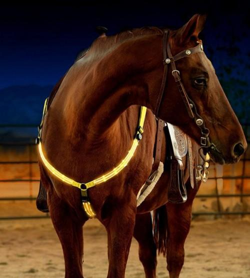 USB rechargeable Flashing Horse Harness for check and neck - USB chargable chest and neck LED Flashing Horse Harness