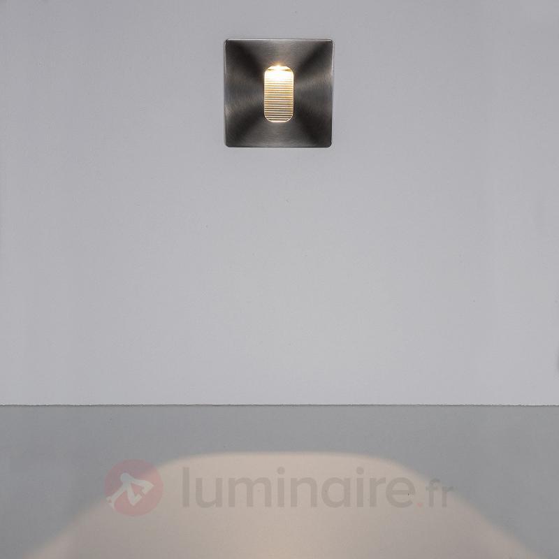 Applique encastrée LED carrée Telke, IP65 - Appliques d'extérieur encastrées