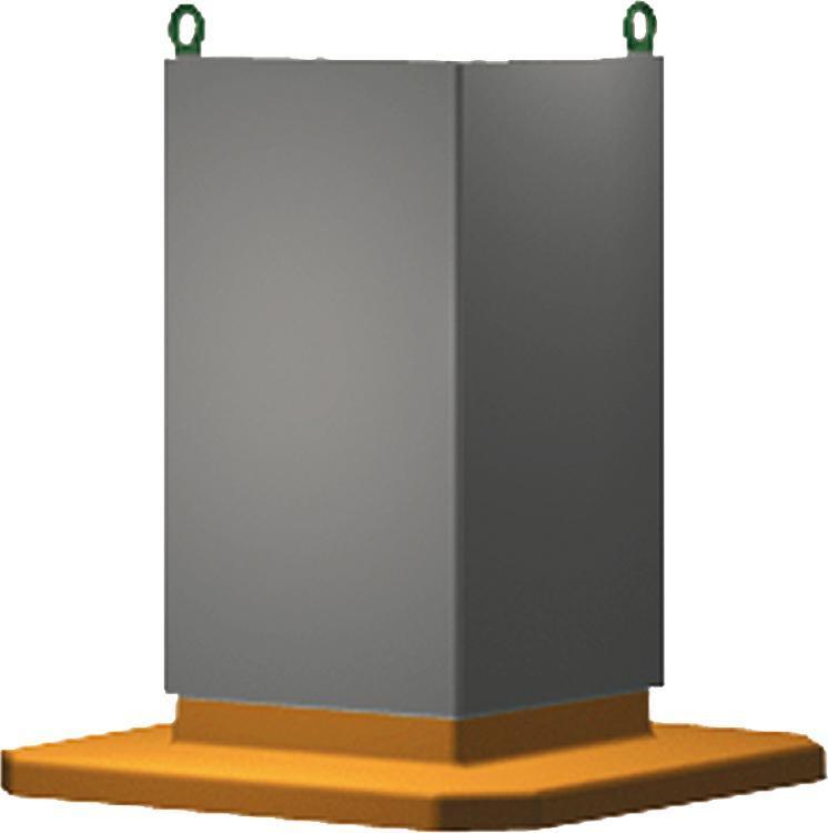 Cube préusiné Fonte grise - Cube
