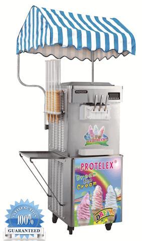 Παγωτομηχανή soft ice - χωνάκι 2+1 - Μηχανή παγωτού με 2+1 γεύσεις