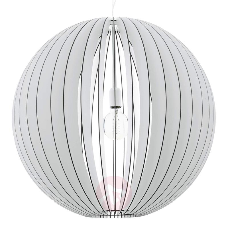 Imposing Cossano hanging light with wooden slats - indoor-lighting