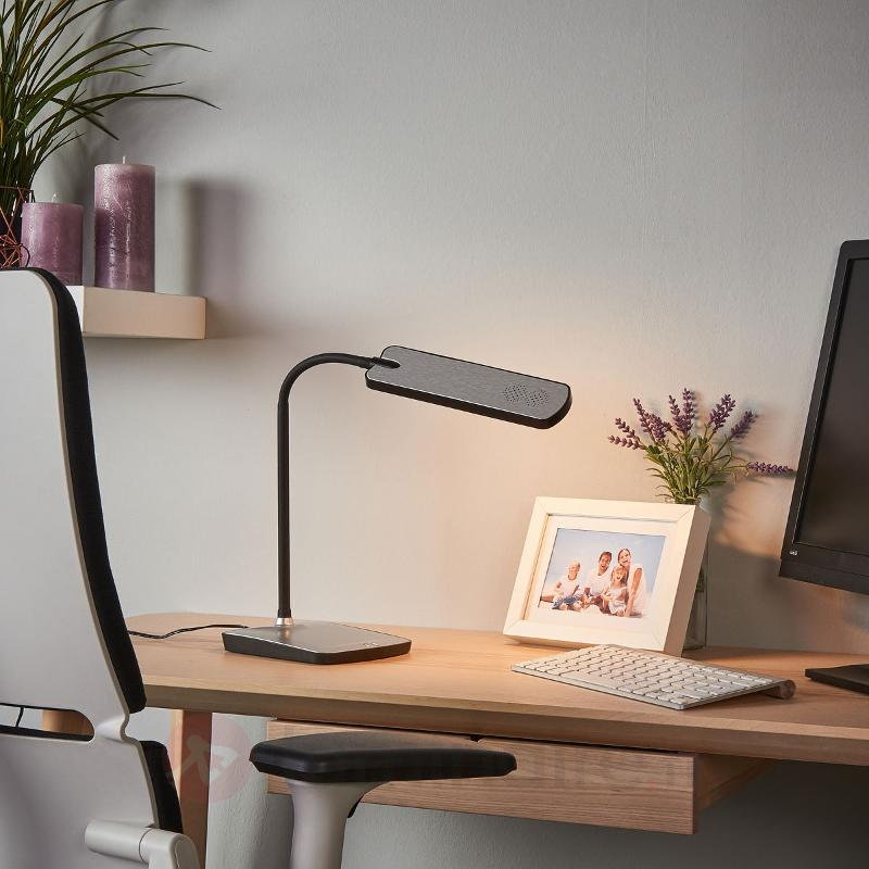 Lampe de bureau LED Leoris avec port USB - Lampes de bureau LED