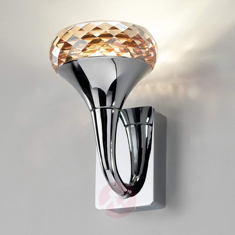 Crystal designer LED wall light Fairy amber - indoor-lighting