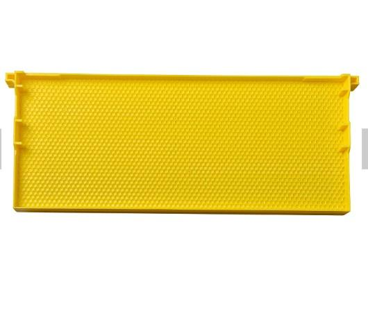 Plastic frame with comb foundation for beeking tool  - beekeeping Plastic frame