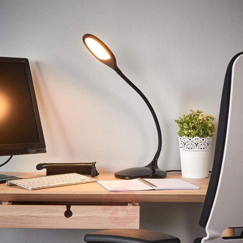 Aijana LED desk lamp with dimmer - indoor-lighting