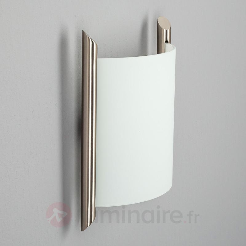 Applique en verre Filippa nickel satiné - Appliques chromées/nickel/inox
