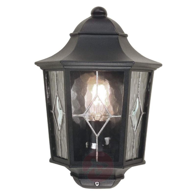 Slim outdoor wall lamp Norfolk with lead glazing - Outdoor Wall Lights