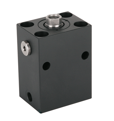 Block cylinder, single acting with spring return - Article ID 1511000