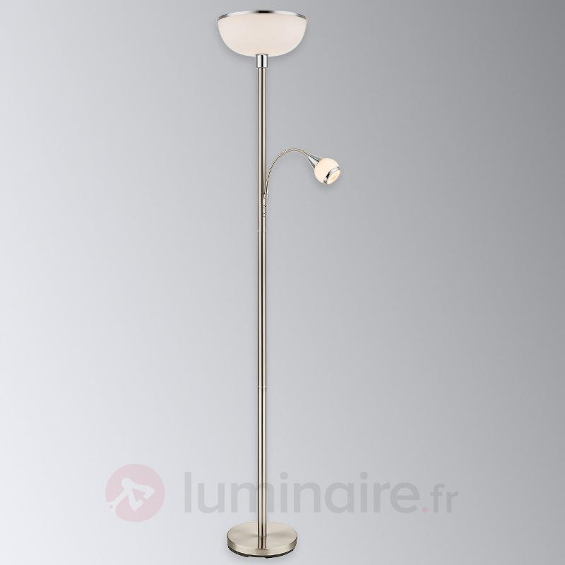 Lampadaire Tahani, éclairage indirect avec liseuse - Lampadaires à éclairage indirect