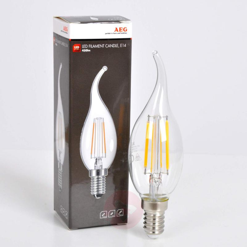 E14 4 W 827 LED filament flame tip candle bulb - light-bulbs