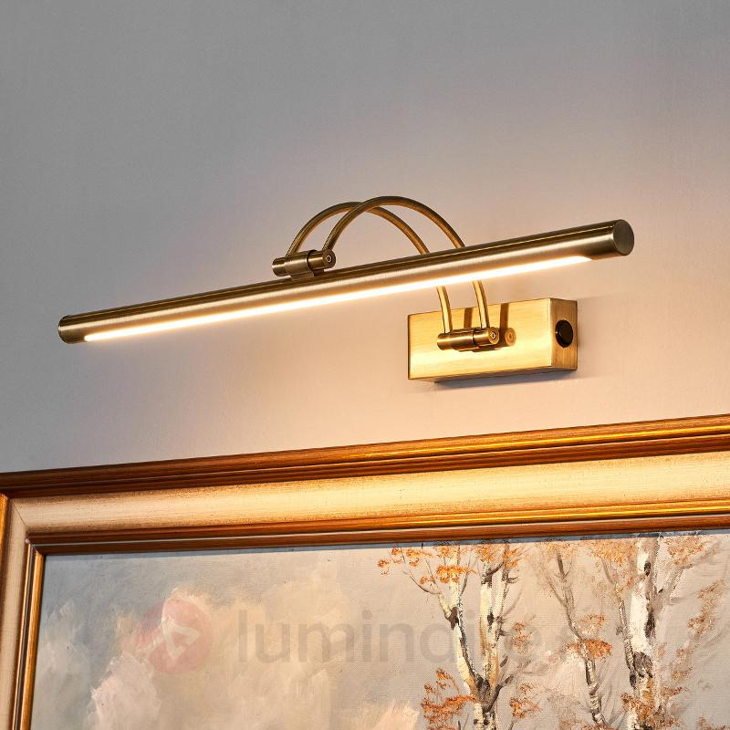 Applique tableau LED Vincenza en laiton ancien - Appliques LED
