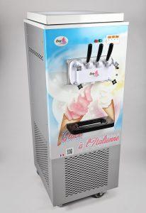 Machine à glace Italienne sur roulettes -