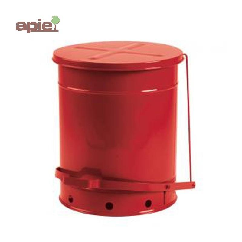 Poubelle de sécurité antifeu à pédale, couleur rouge