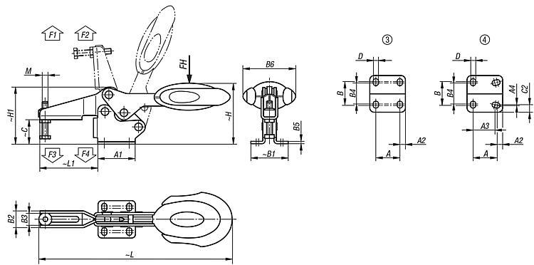 Horizontal Toggle Clamps with Safety Interlock with... - K0660