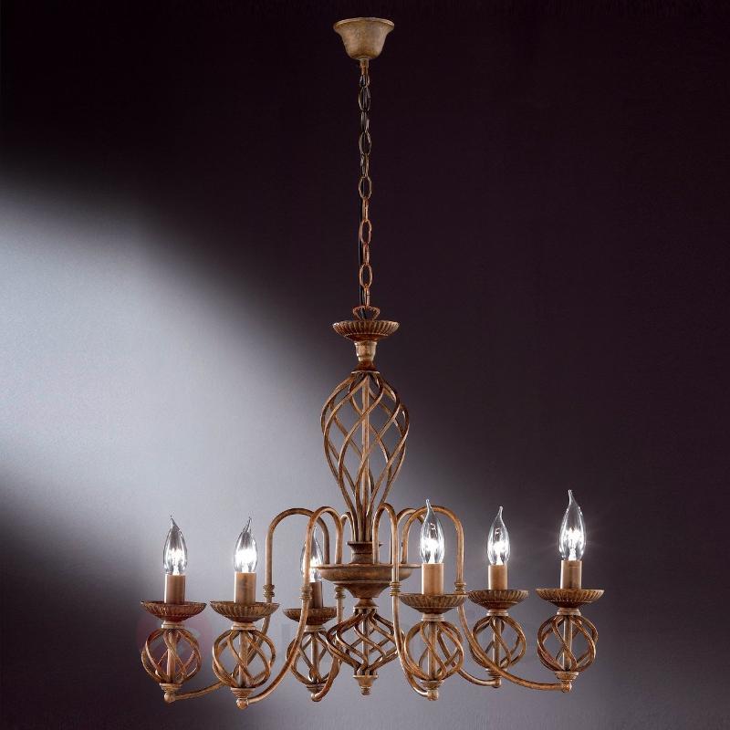 Lustre rustique DRESDEN à 6 lampes - Lustres classiques,antiques