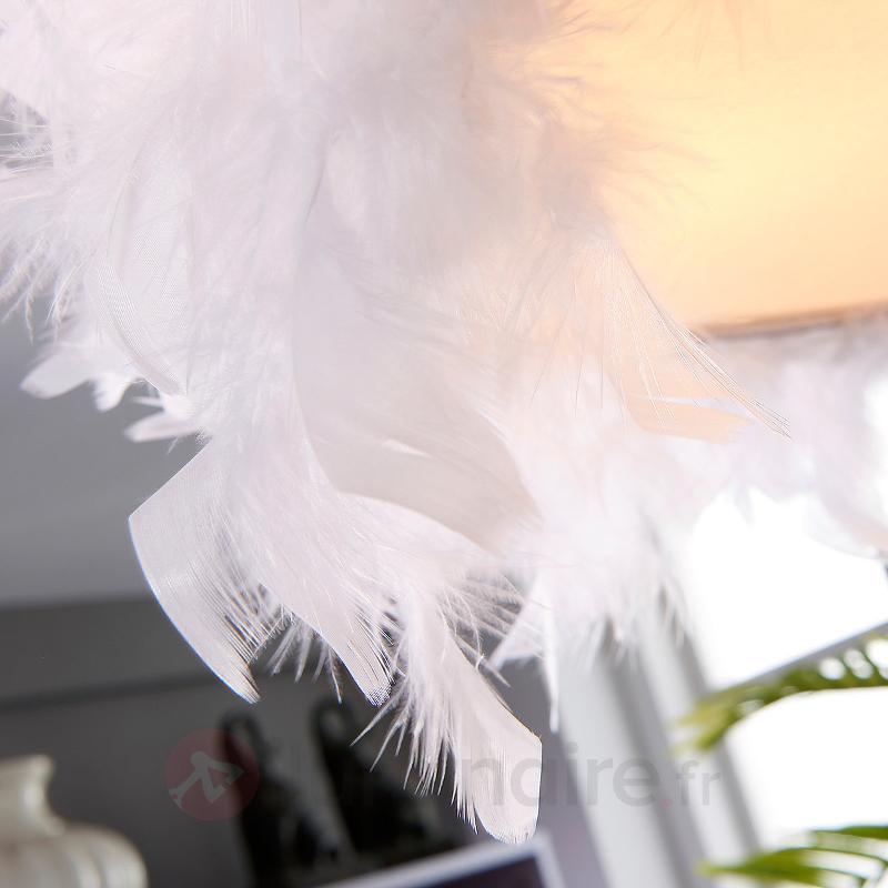 Pauline - plafonnier avec des plumes de canard - Plafonniers en tissu