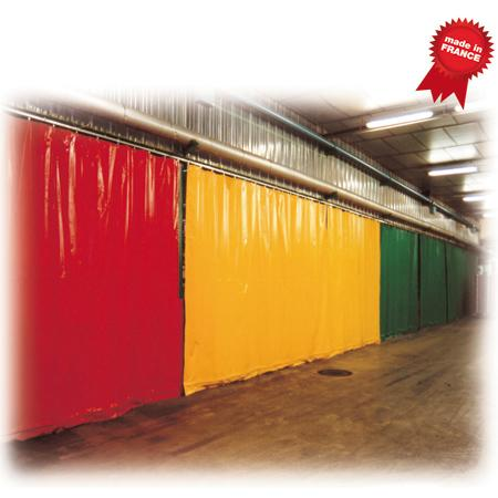 Mavitoile Modular partition in flexible curtain - Industry – Food industry – Cold room
